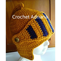 Gorro Tejido Casco Medieval Crochet Fn4