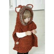 Poncho Tejido A Crochet