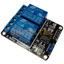 Modulo 2 Relevadores C/optocoplador Usa Arduino Nodemcu Pic