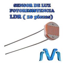 Sensor De Luz Ldr, Fotoresistencia, Luminosidad (10 Piezas)