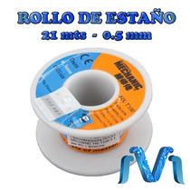 Rollo De Soldadura Estaño Plomo 0.5 Mm