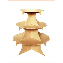 Bases Mdf Triple Dulcero Cupcakes Conos Mesa Dulces Madera