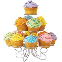 Base Para Cupcakes Metálica Para 13 Piezas! Hermoso Diseño!