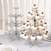 Base Para Cupcakes Metálica Para 23 Piezas! Hermoso Diseño!