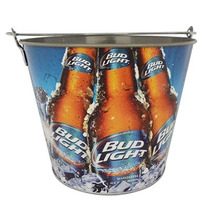 Cubeta Metalica Bud Light Nueva Original Para 6 Botellas