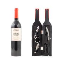 Kit Para Vino En Forma De Botella Saca Corchos Set Accesorio