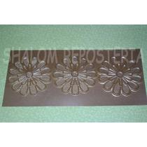 *cenefa Modelo 4 Flores Sugarveil Encaje Tela Azucar Fondant