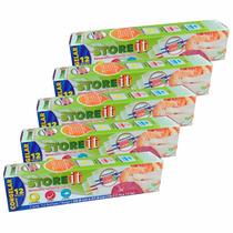 Paquete De Bolsa Para Congelar 5 Cajas Con 12 Pzas Storeit