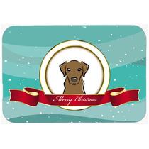 Chocolate Labrador Feliz Navidad De Vidrio Tabla De Cortar G