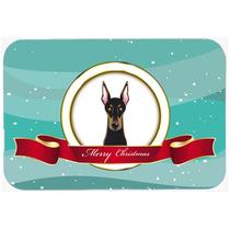Doberman De La Feliz Navidad De Vidrio Tabla De Cortar Grand