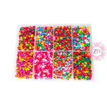 Estuche 7 Modelos Con Confeti De Azúcar Decoración Cupcakes
