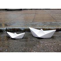 Botinero Y Cenicero En Forma De Barco De Cerámica Diseño