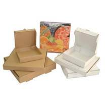 Caja Para Pizza 14x14x5 Cms Carton Microcorrugado Kraft