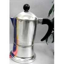 Aluminio Cafetera Express Fuego Directo 6 Tazas Cilindrica