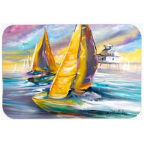 Barco De Vela Con La Bahía De Medio Vidrio Del Faro Tabla D