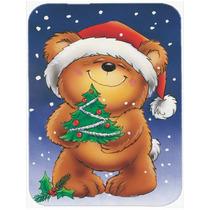 Oso De Peluche Y El Cristal De La Navidad Del Árbol De La T