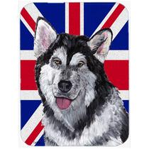 Malamute De Alaska Con La Bandera De La Unión Jack Británi