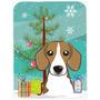 Árbol De Navidad Y Beagle Cristal Tabla De Cortar Grande Bb