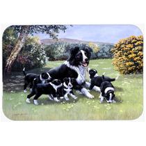 Los Cachorros Border Collie Con Momma De Cristal Tarjeta De