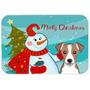 Muñeco De Nieve Con Jack Russell Terrier De Cristal Tabla D