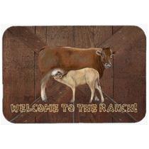 Bienvenido Al Rancho De La Vaca Y Del Bebé Tarjeta De Corte