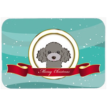 Caniche De Plata Gris Feliz Navidad De Vidrio Tabla De Corta
