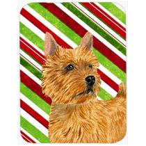 Terrier Norwich Caramelo Bastón De Vacaciones De Navidad De