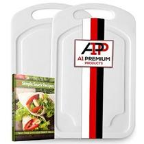 A1pp Pequeño Plástico Cocina Tabla De Cortar Set - 2 Poly Tr
