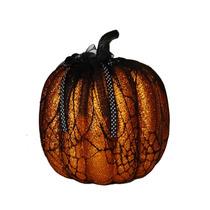 2 Calabazas Con Encaje Negro Decorativas Halloween Adornos