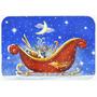 El Trineo De Santa De La Navidad Por Roy Avis Cristal Tabla