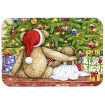 Osos De Peluche De Navidad Con Árboles De Cristal Tarjeta D