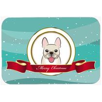 Bulldog Francés Feliz Navidad De Vidrio Tabla De Cortar Gra
