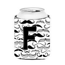 Letra F Del Bigote Inicial Lata O Una Botella De Hugger Cj20