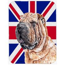 Shar Pei Con Union Jack Británica Inglés Cristal De La Ban