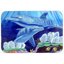 Delfín Bajo El Mar Tarjeta De Corte De Cristal Grande