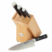 Cuchillos De Cocina Analon Bloque C/5 Pzas Acero Inox