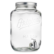 Original Mason Jar Dispensador De Bebidas 2.15 Galones 8 Lt