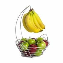 Frutero Redondo Metálico Para Colgar Plátanos Buffet