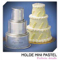 Molde Mini Pastel 3 Pisos Cupcake Mesa De Dulces
