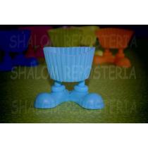 *molde Capacillo Silicon Piecitos Azul Cielo Cupcake Fondant
