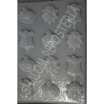*molde Mediano Gomitas Jabon Chocolate 12 Figuras Halloween*