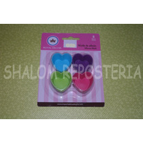 *kit 8 Mini Capacillos Moldes Corazon Silicon Trufa Fondant*
