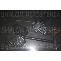 *molde Paletas De Chocolate 2 Paletones Mariposas Detalladas
