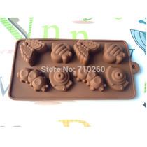 Molde De Silicon Para Chocolate En Forma De Oruga Mariposas