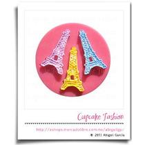 Molde Silicón Torre Eiffel Paris Fondant Pasta Flexibl #1451