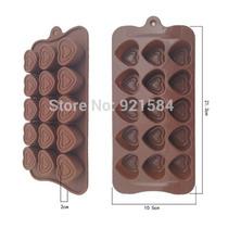 Molde De Silicon De Corazones Para Chocolate Doble Linea