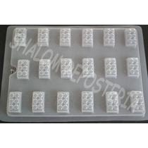 *molde Mediano Para Hacer 18 Bloques Lego Ch Gomita Jabon*