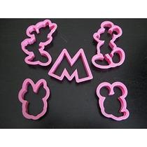 Mickey Y Minnie Mouse Cortador De La Galleta Del Molde De La