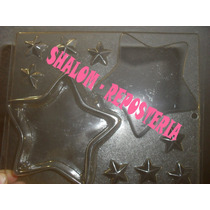 *molde Alhajero Estrella ,xv Anios Yeso Chocolate Jabon*