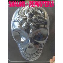 *molde Placa Chocolate Calavera D Azucar, Gelatina,halloween